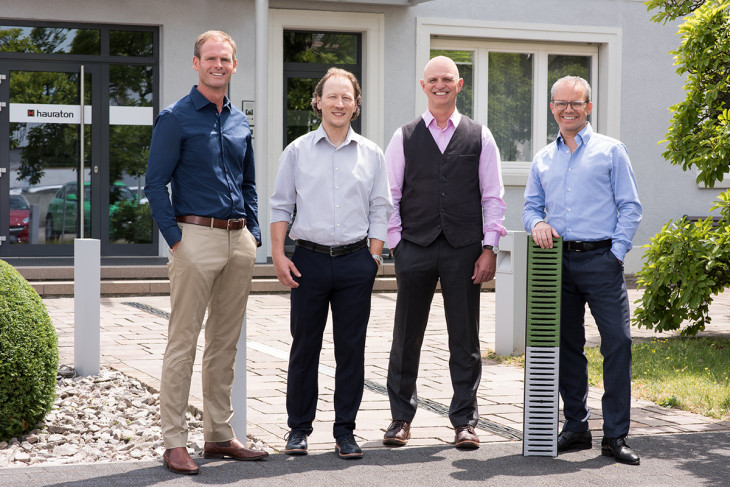 HAURATON Management Board From left to right: Michael Schenk, Patrick Wieland, Dieter Bastian and Marcus Reuter